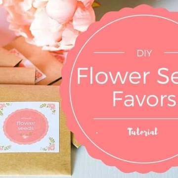 Flower Seeds Party Favors Ideas