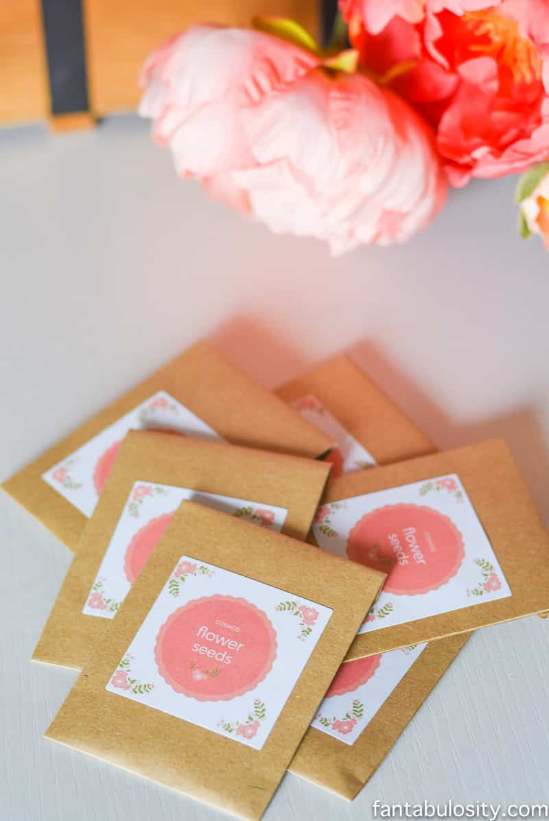 Flower Seed party Favors