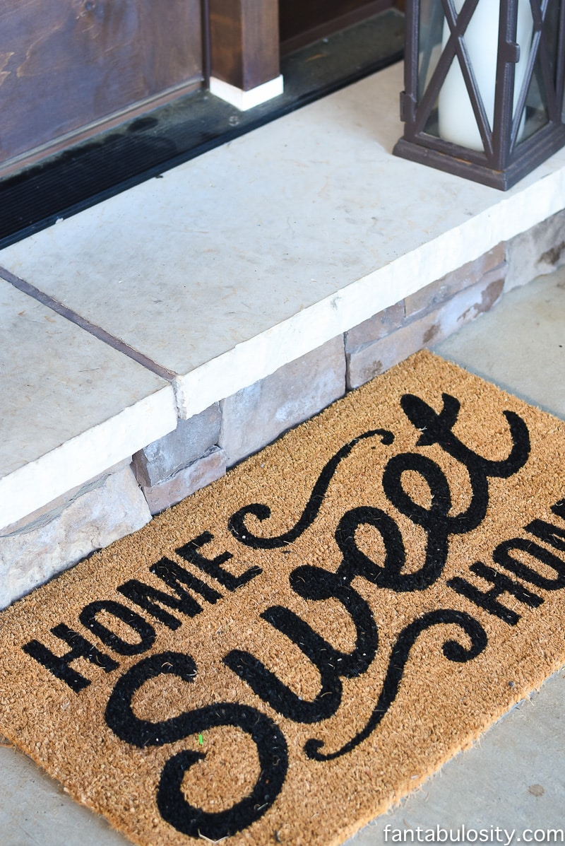 Front porch rug, or mat. Love this!