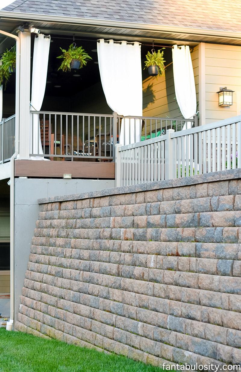 Back Yard - Retaining Wall