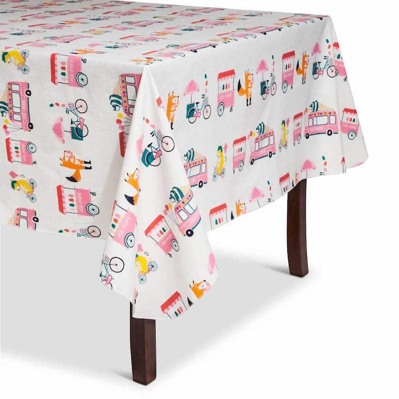 Ice Cream Party Table Cloth