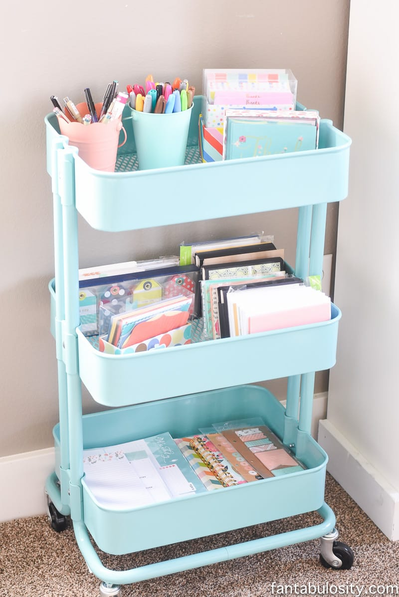 IKEA cart for her stationary! Ahhh! Love it.