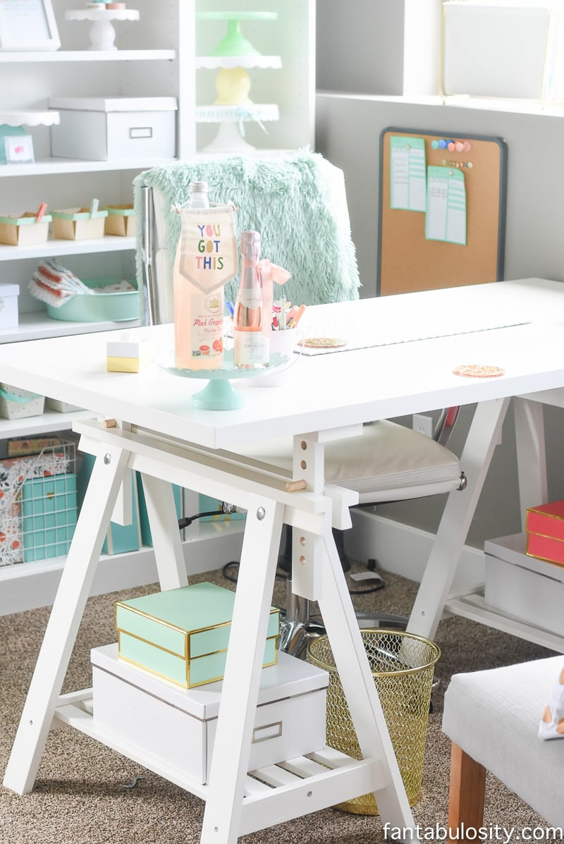 Home office desk idea. IKEA pieces