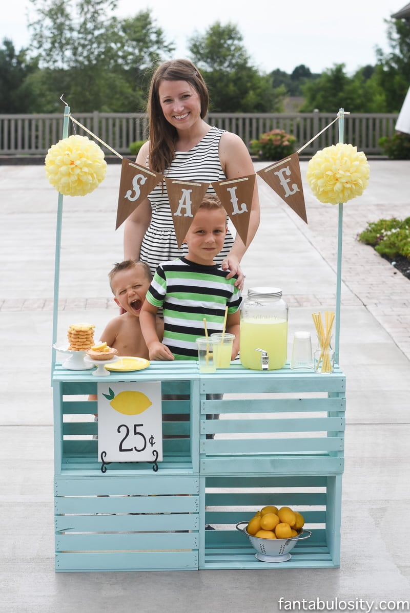 lemonade stand family activity for summer
