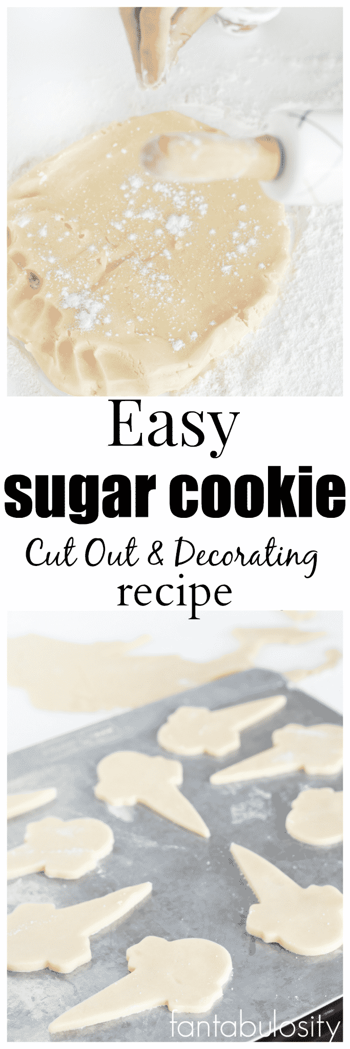 Easy Sugar Cookie Recipe. Great for cut out cookies and decorating!!! Love this one, and requires no refrigeration!
