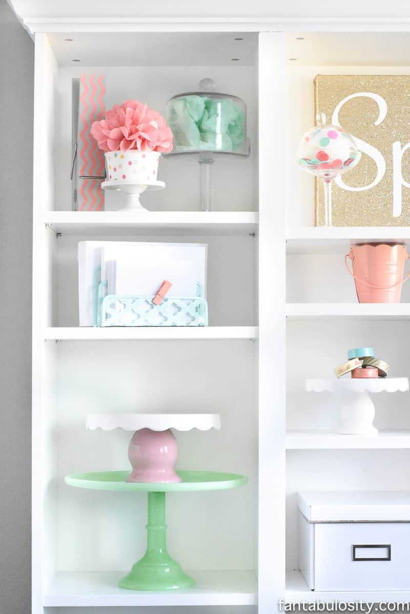 Home Office Remodel Reveal Bookshelf: IKEA Custom Built