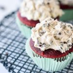 Red Velvet Cupcakes | Cookie Dough Frosting