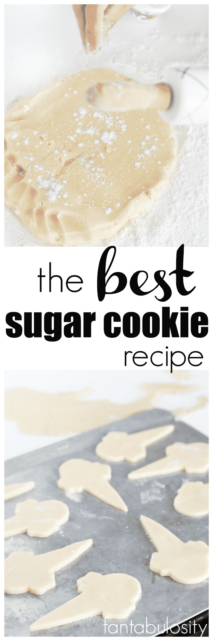 Easy Sugar Cookie Recipe. Great for cut out cookies and decorating!!! The BEST Sugar Cookie Recipe for decorating and eating. After baking, freeze them to decorate later! They're THAT good!