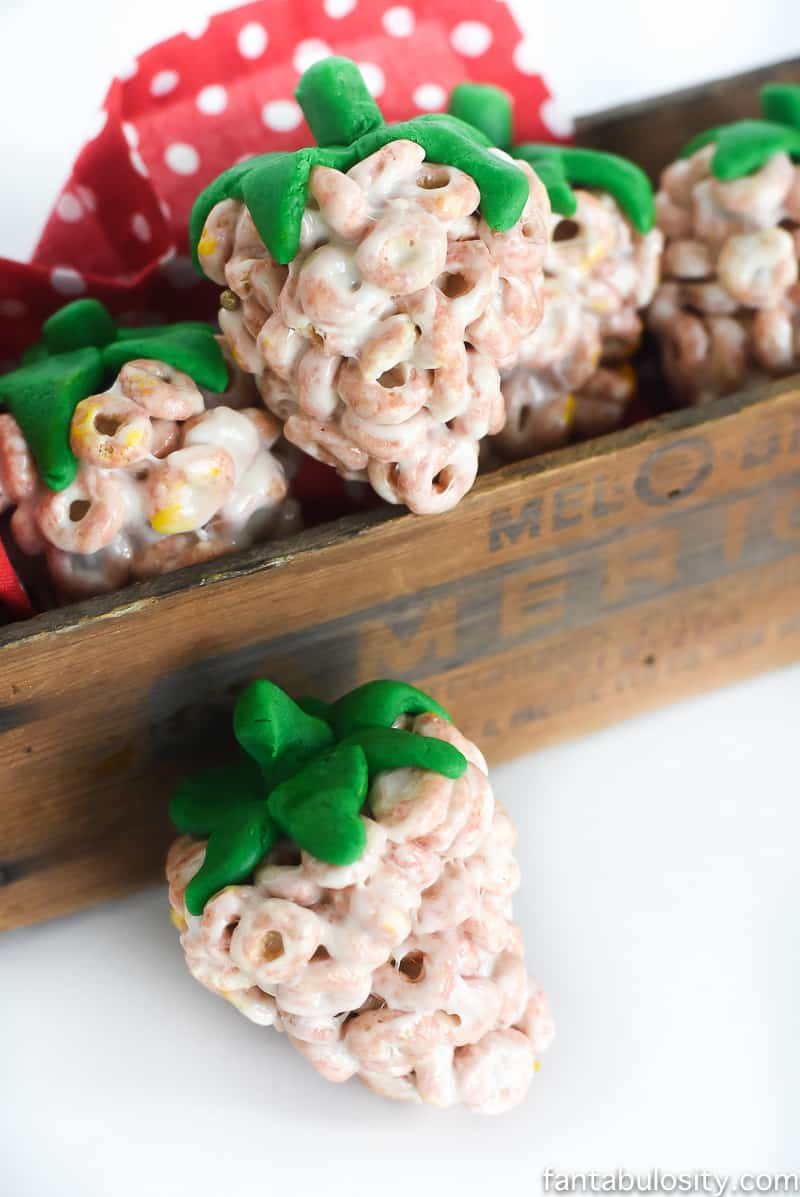 Chocolate Covered Strawberry Cereal Treats