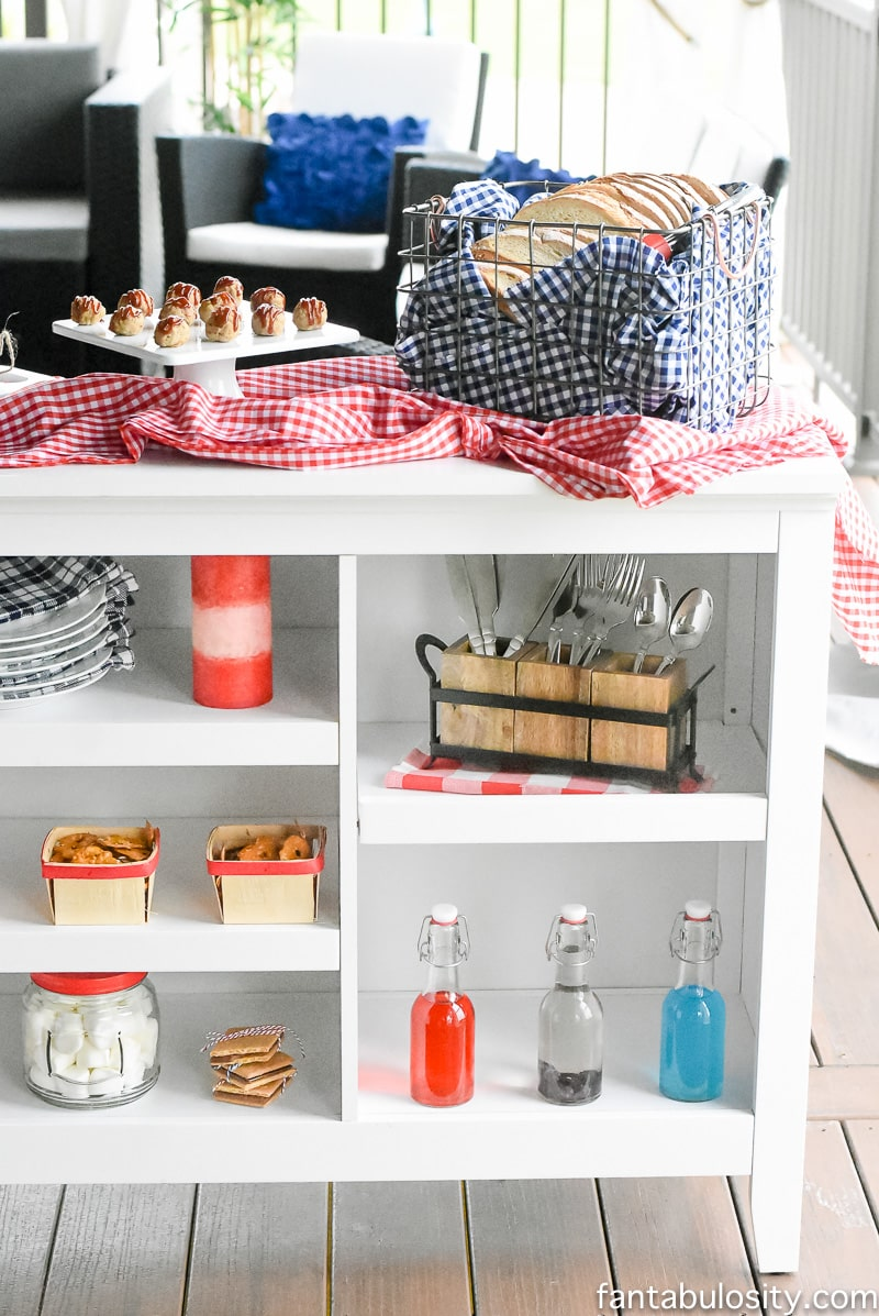 A Dip Bar! Such a fun way to style snacks for a party.