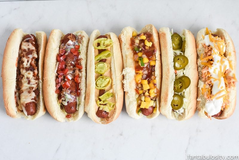 Hot Dog Week: Great topping ideas for hot dog bar