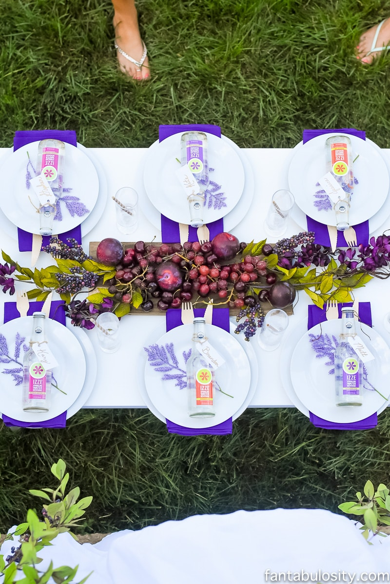 Whimsical Purple Passion Tablescape, Fantabulosity