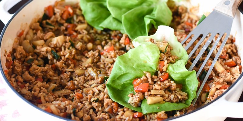 Asian chicken lettuce wraps - quick weeknight meal Fantabulosity