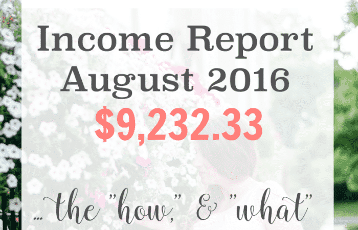 Blog Income Report: August 2016 Fantabulosity