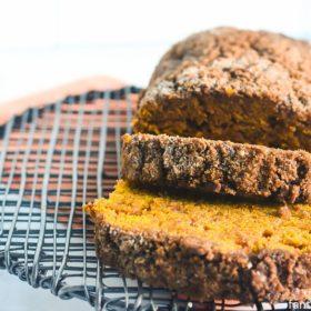 Cream Cheese Pumpkin Bread - Made with Coconut Oil