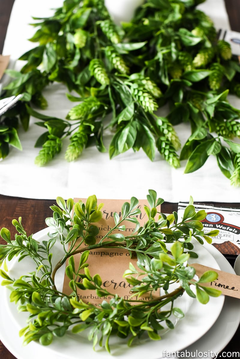Brunch Party Ideas: Tablescape with Starbucks