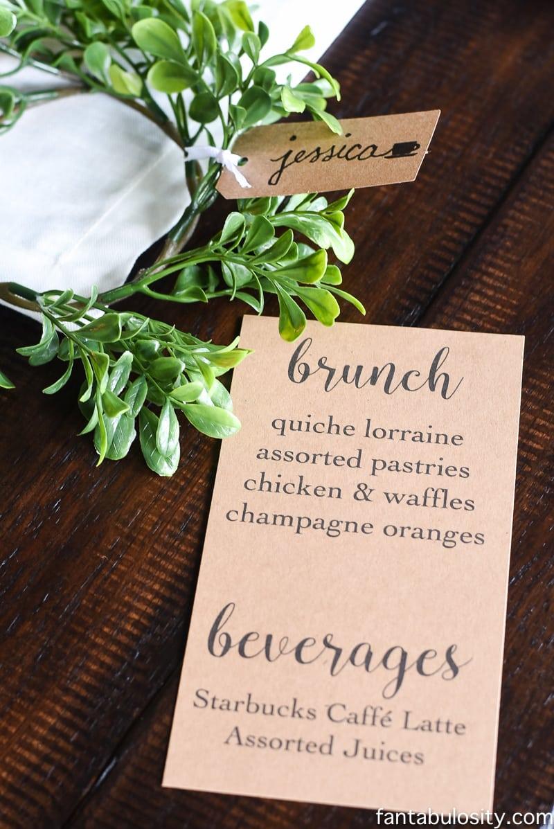 Brunch Menu Ideas for a brunch party