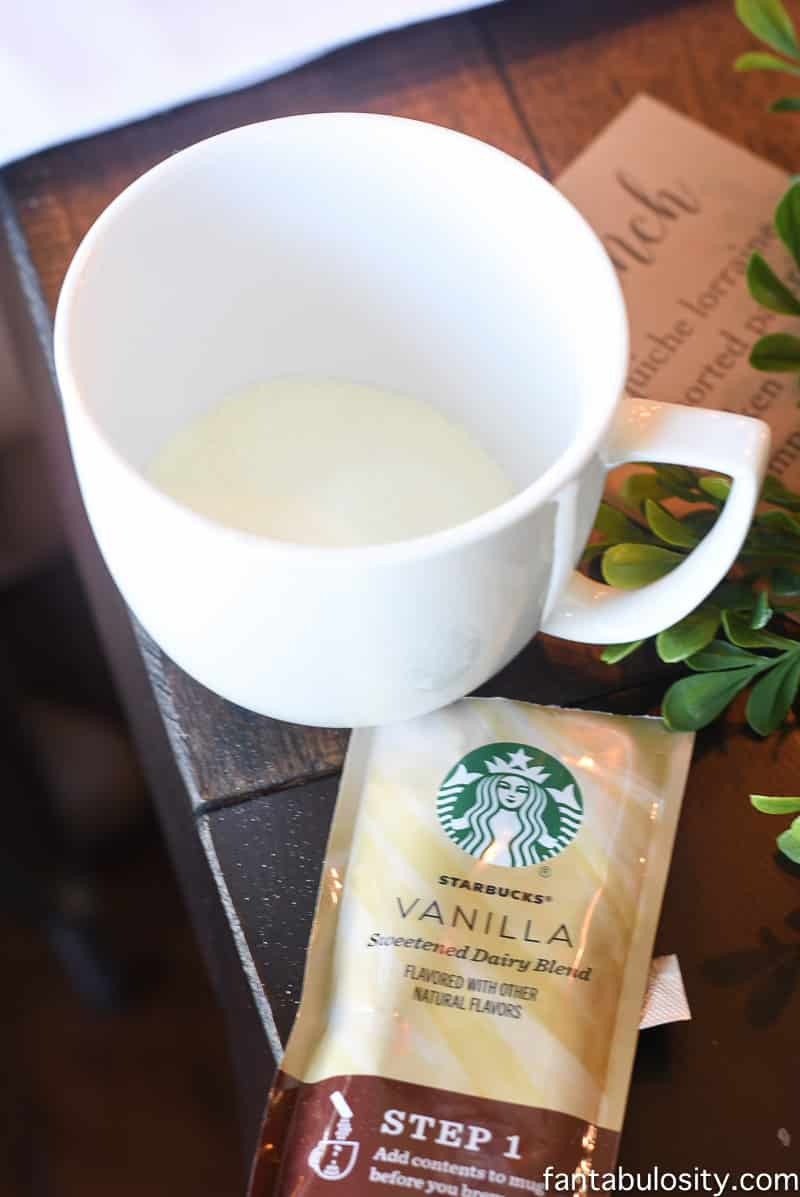 Brunch Party Ideas with Starbucks Latte's
