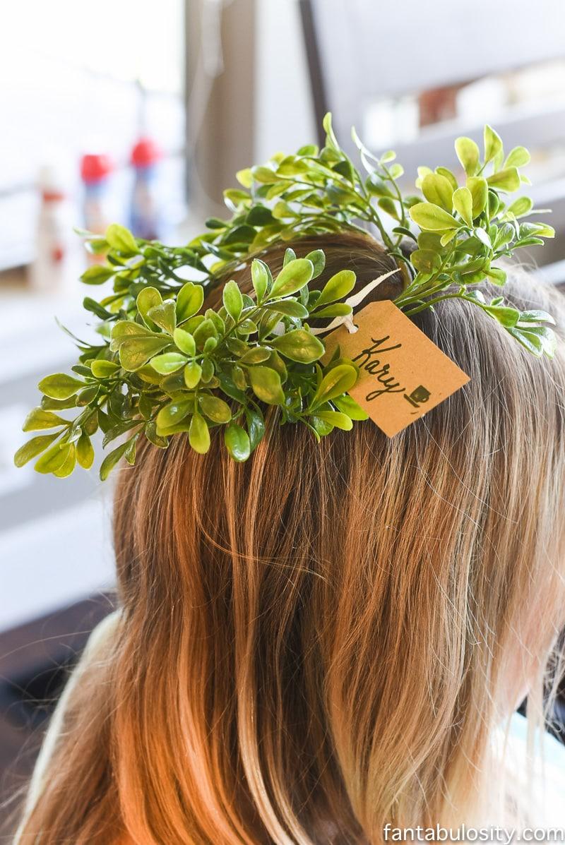 Flower Crown for a brunch party favor