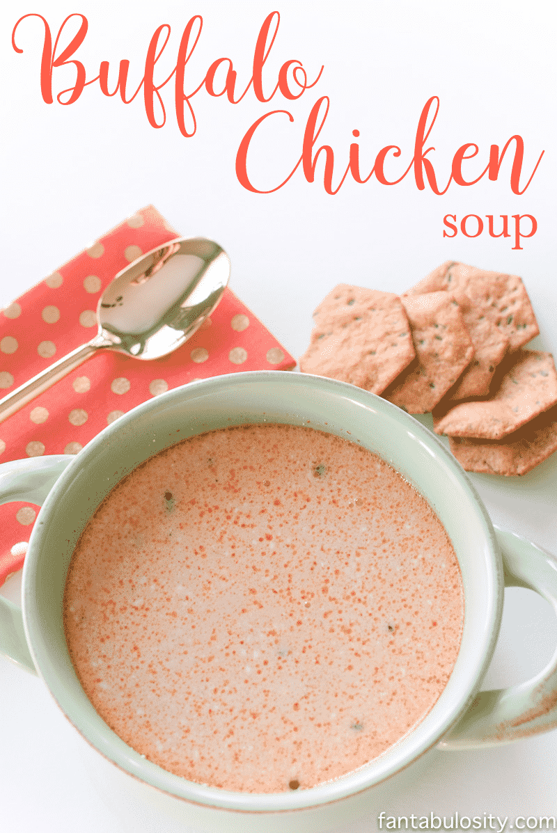 This is so ADDICTING! Buffalo chicken soup recipe