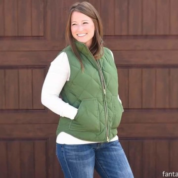 Green Vest and Sperry Boots! Fall winter fashion is here!
