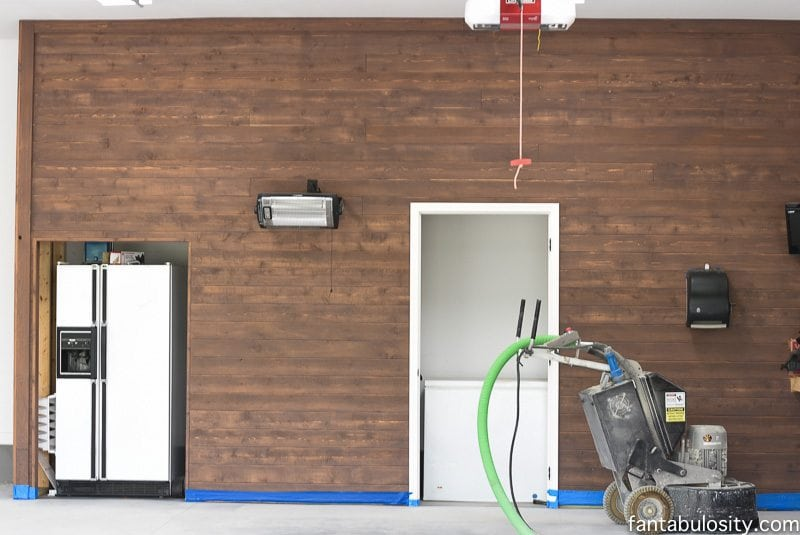 Garage flooring, and garage floor paint ideas! Love how this garage has built in closets for garage organization.