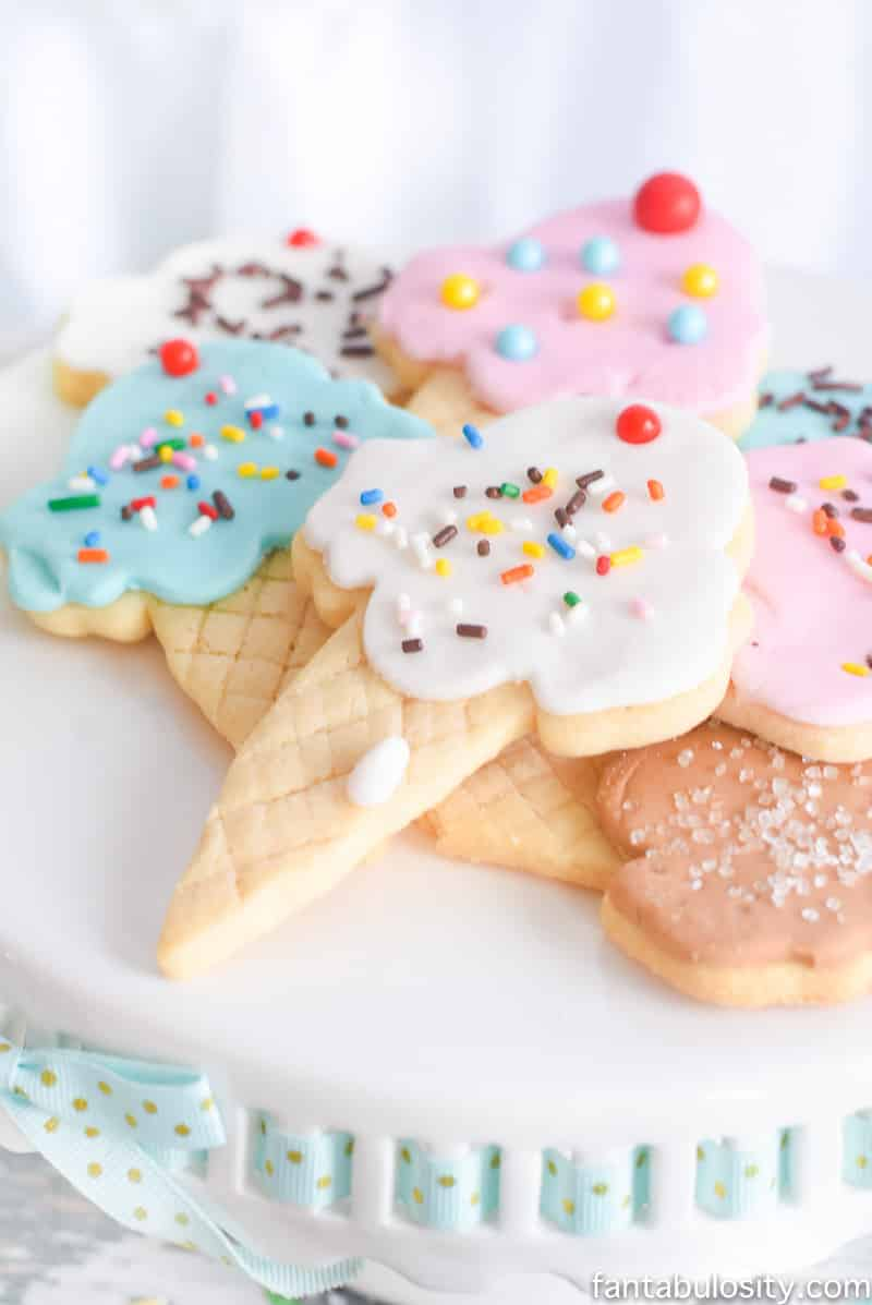 Ice Cream Party Ideas: Pastel Colors, ice cream cookies, cones with sprinkles!