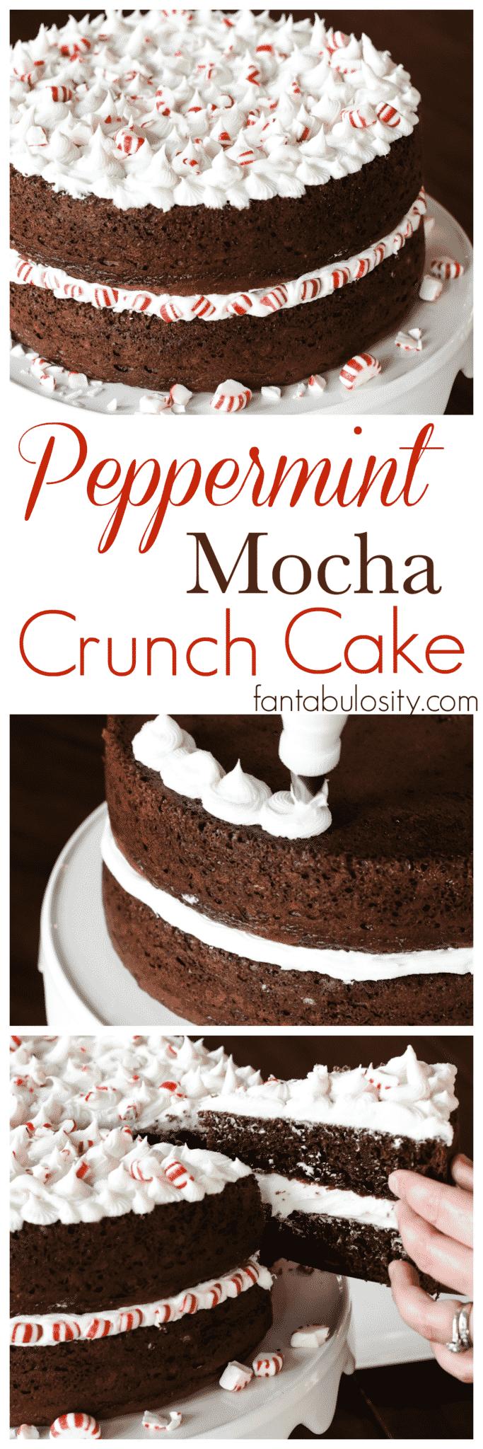 Peppermint Mocha Crunch Cake Recipe