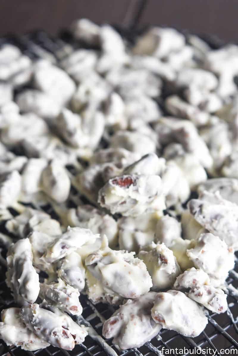 White Chocolate Spiced Pecans fantabulosity.com