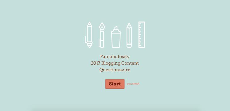 Fantabulosity Blog Consulting Survey