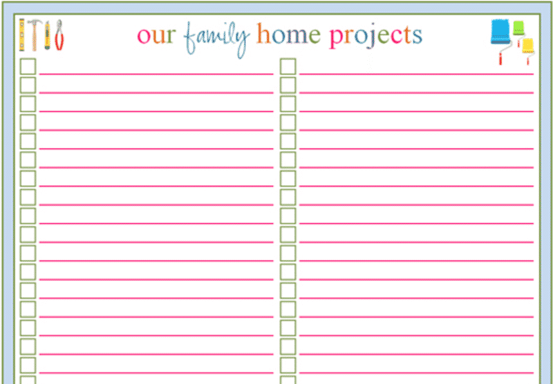 New Year Organization: How I stay organized. Home projects printable