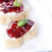 Strawberry Jalapeno Bruschetta: A quick & easy appetizer to serve for unexpected guests, or a classy dinner party!