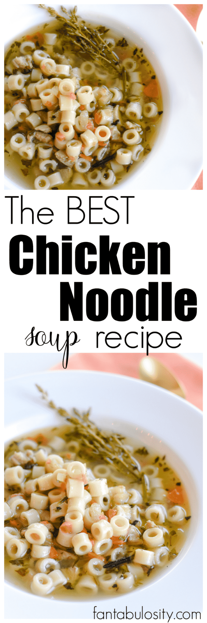 This is the BEST homemade chicken noodle soup recipe I've had, and it was so quick and easy! Homemade