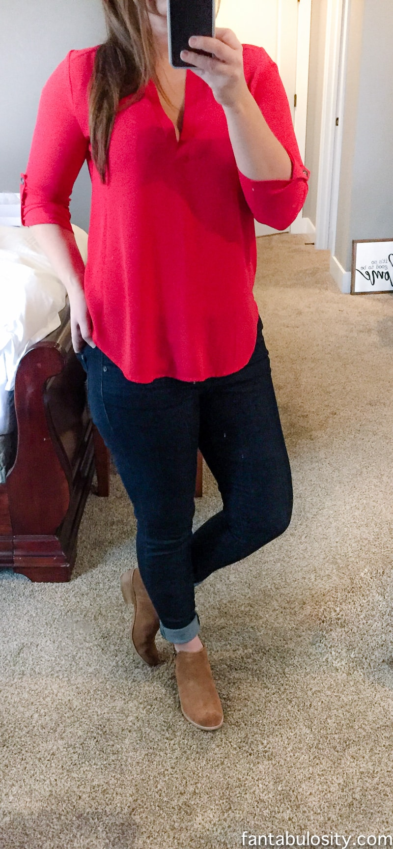 LOVE these jeans and booties. Trunk Club Review for Women: Unboxing Video January 2017