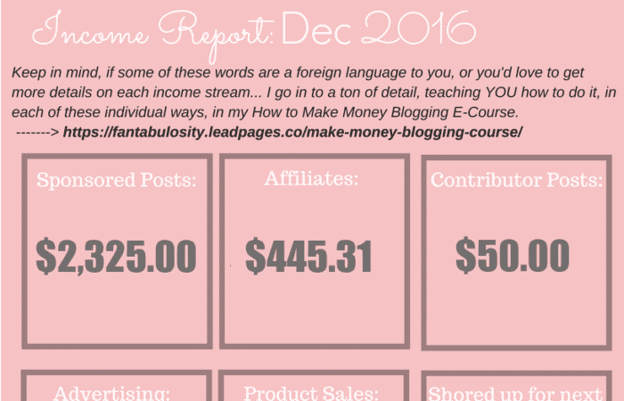 Blog Income Report: December 2016