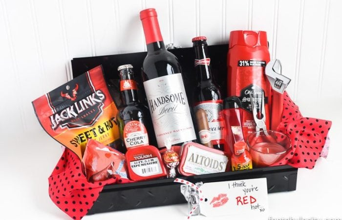 Gift ideas archives fantabulosity gift idea for him i think youre red hot gift basket ideas birthday diy solutioingenieria Images