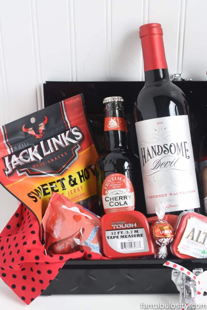 Gift Idea for Him- I think you're red Hot Gift Basket Ideas