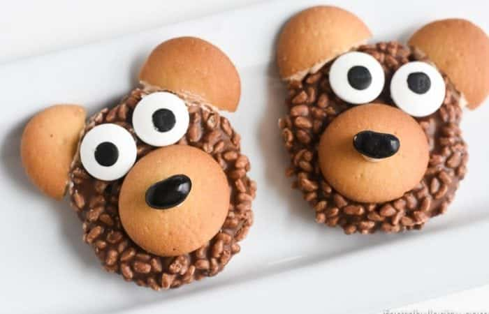 Teddy Bear Food Idea - DIY Cookies. So cute for a woodland friends, camping, or forest party as a party favor too!