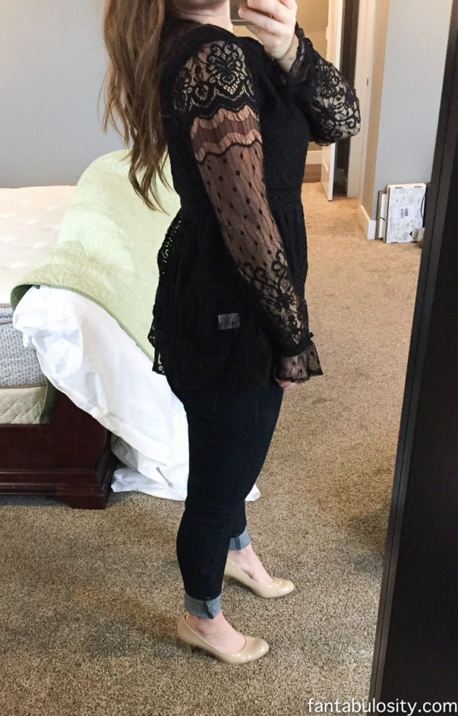 Trunk Club for women review: Lace Hinge Peplum Top: http://rstyle.me/~9vnHd