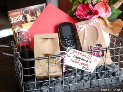 Couch Potato Gift Basket Idea