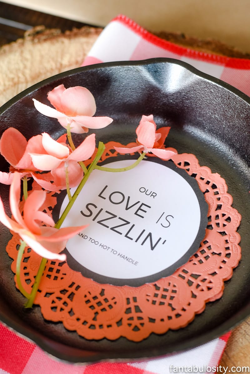Cast Iron Dinner part! SOOOO CUTE! Party Theme for Adults- Our Love is Sizzlin' Dinner Party & Dirty Cupid Game