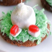 """Awww, how cute and easy are these! Easter Dessert Idea: """"Bunny in the Hole"""" Donuts"""