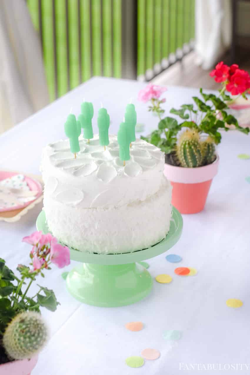 Cactus Cake Candles!! So fun. Fiesta Theme Party: A confetti and pastel fiesta party!