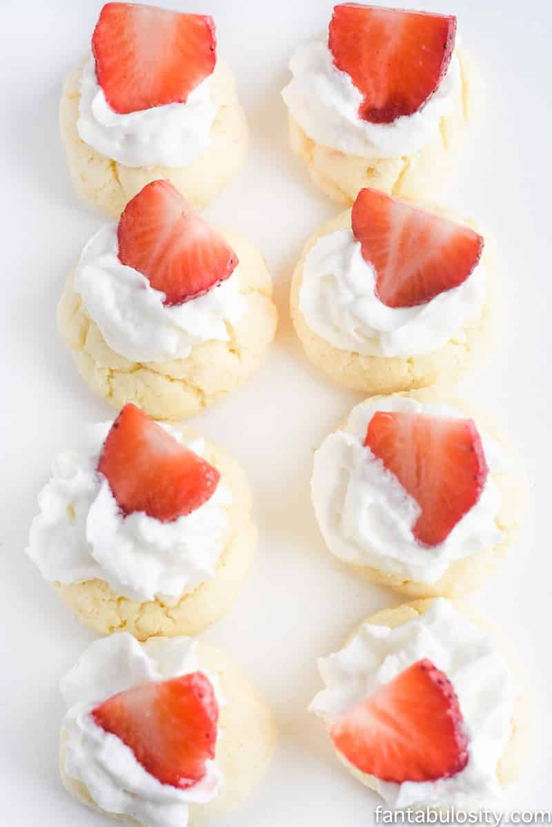 Oh my goodness!!! Strawberry Shortcake Gooey Butter Cookies recipe