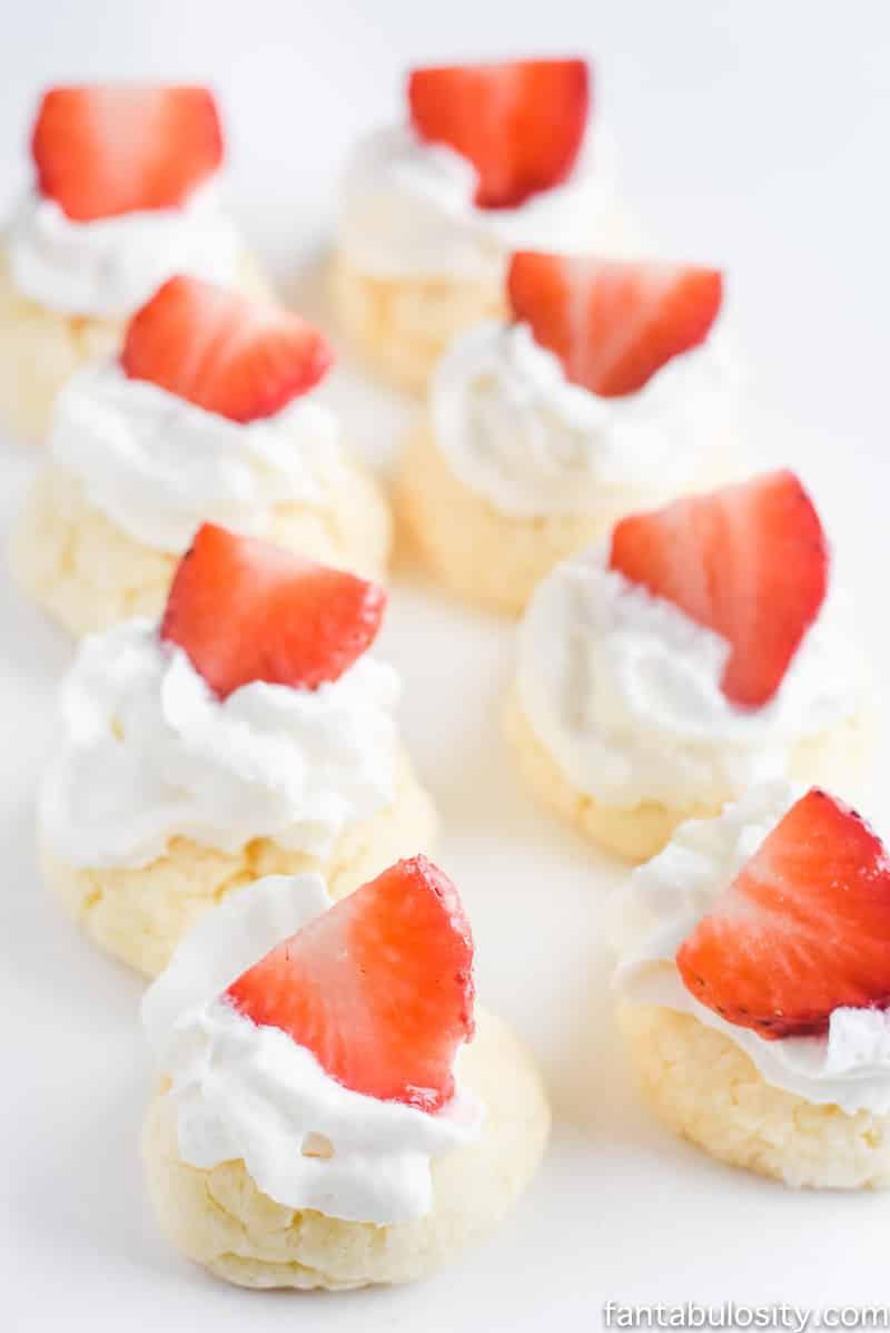 Strawberry Shortcake Gooey Butter Cookies Recipe