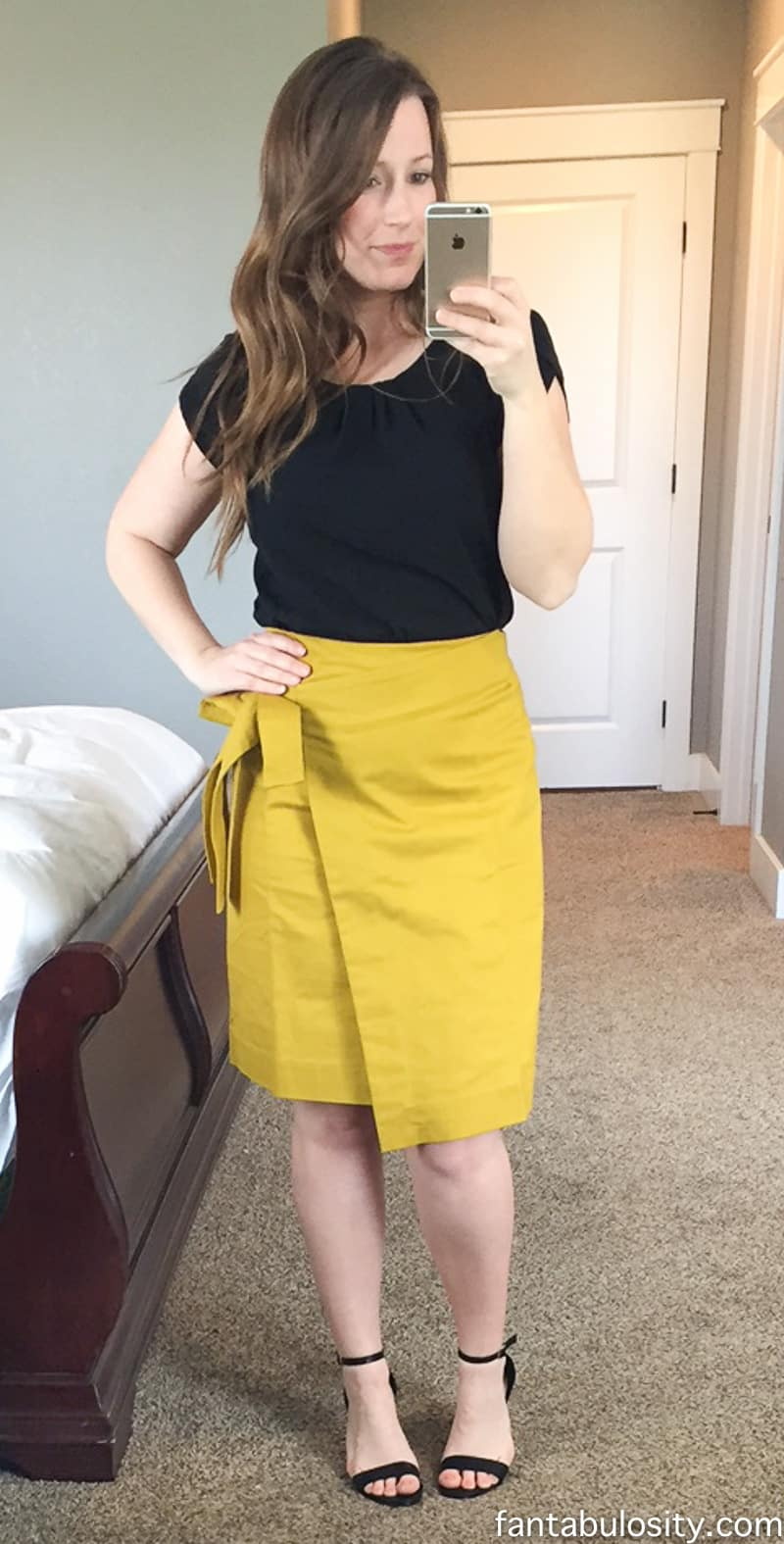 Trunk Club Try-On April 2017: Spring Fashion Olive Yellow Bow Skirt