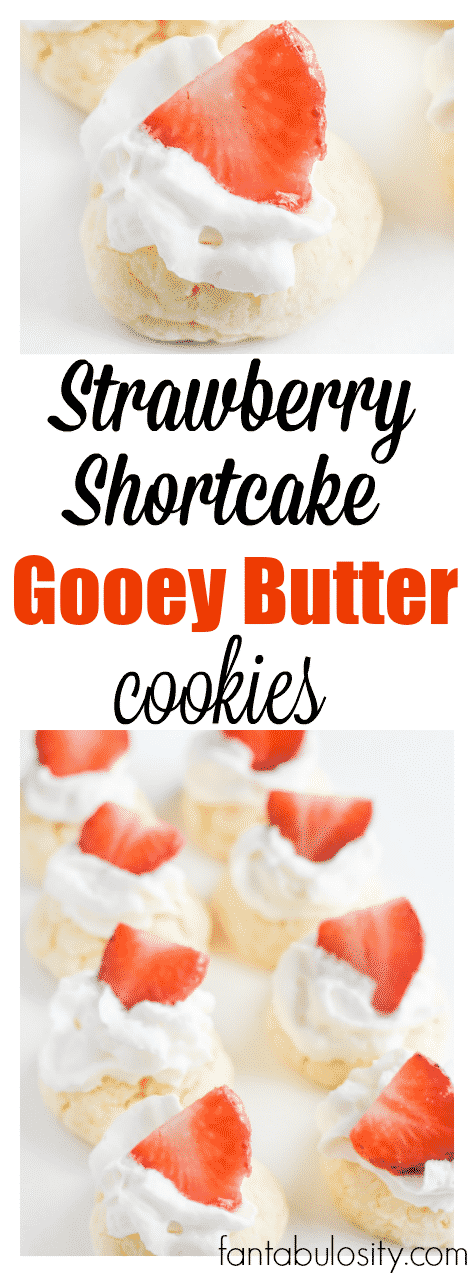 Whaaat! Strawberry Shortcake + Gooey Butter Cookies YES! Strawberry Shortcake Gooey Butter Cookies recipe