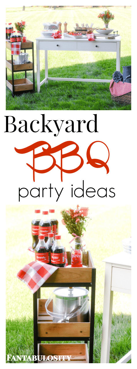Summer backyard bash for the girls fantabulosity for Backyard bbq decoration ideas