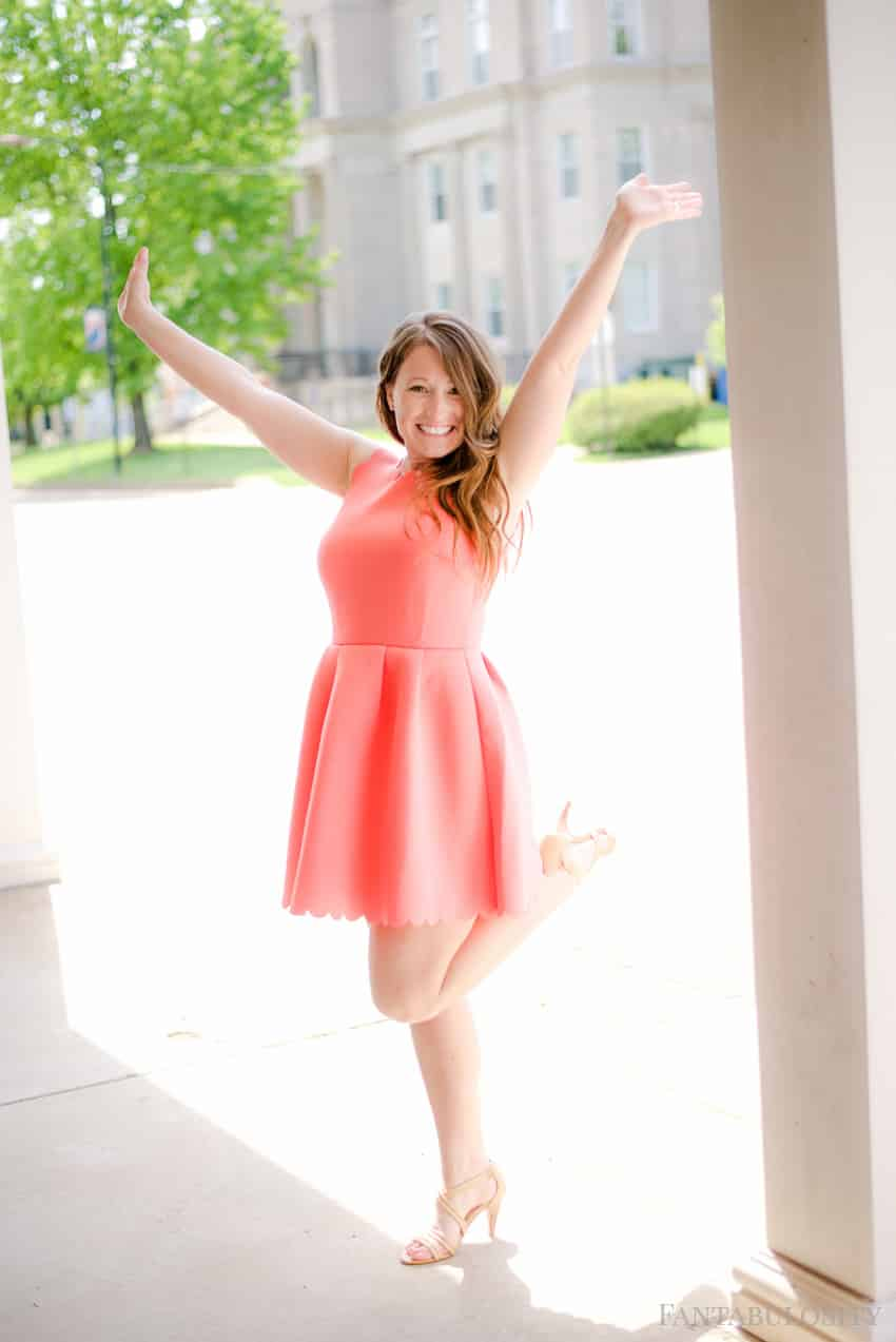 Coral Scalloped Dress: Summer Pink Sleeveless dress. Perfect for a wedding, winery, or date night! Fantabulosity St. Louis Blogger - Fashion, Cooking, Home Decor and Lifestyle Blog