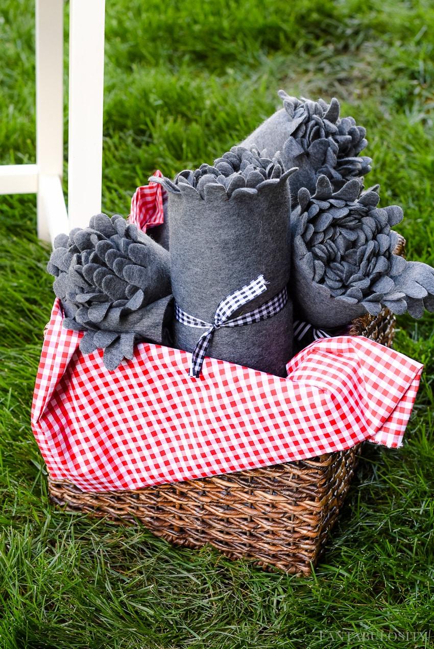 Blankets for a cool summer evening backyard bbq